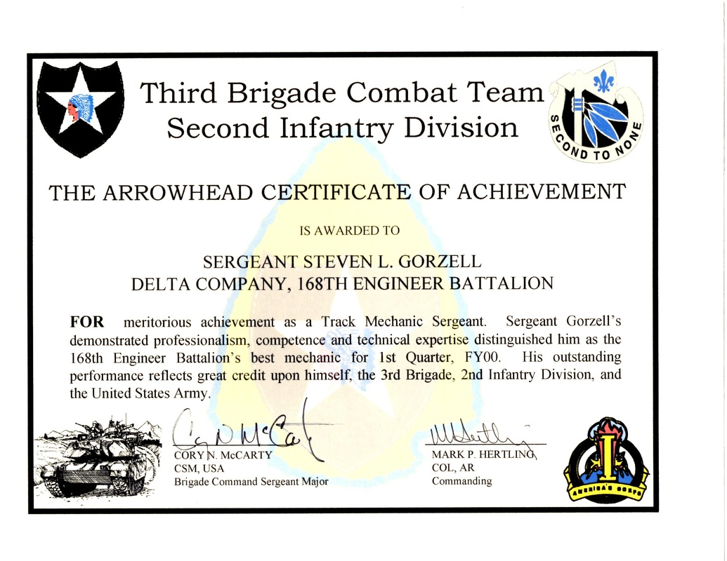 Military Awards, Certificates and Training. - Steven Lee ...